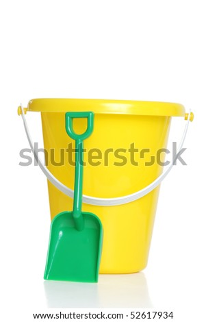 childs pail and shovel - stock photo
