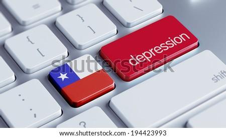 Chile High Resolution Depression Concept - stock photo