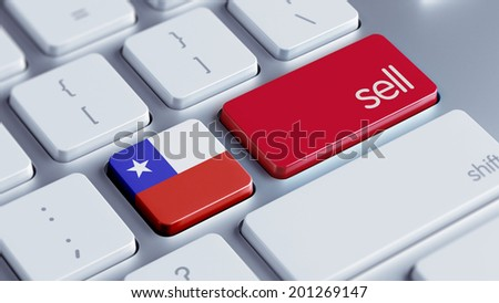 Chile High Resolution Sell Concept - stock photo