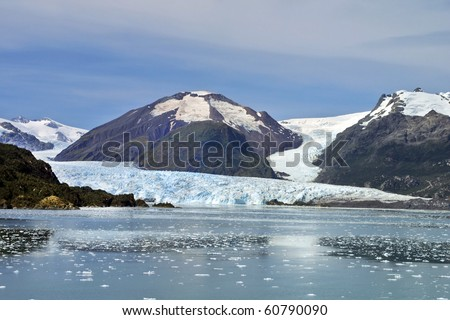 Chilean Fjords and Glaciers, Patagonia. - stock photo
