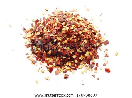 chili flakes - stock photo