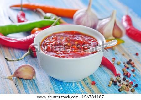 chili sauce - stock photo
