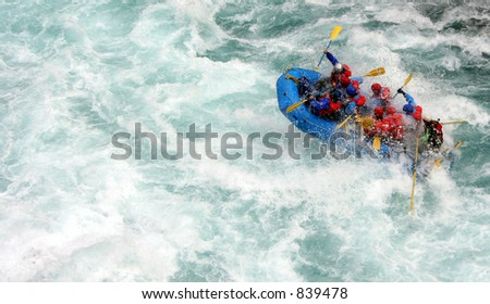 chilko river british columbia/river rafting - stock photo