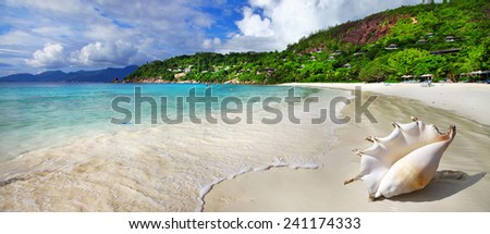 chill out in tropical islands. Seychelles - stock photo