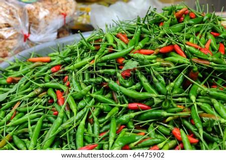 chilli pepers - stock photo
