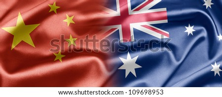 China and Australia - stock photo