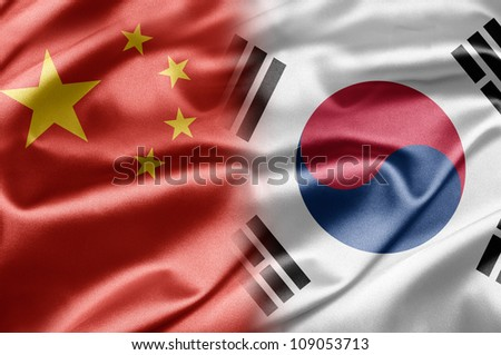 China and South Korea - stock photo