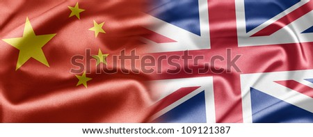 China and UK - stock photo