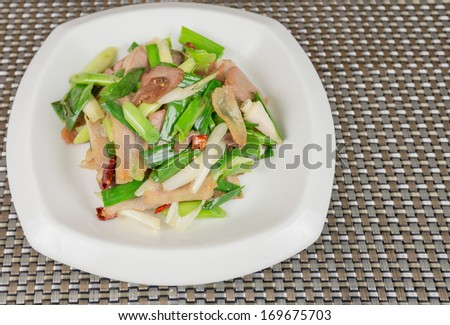 China dish - stock photo