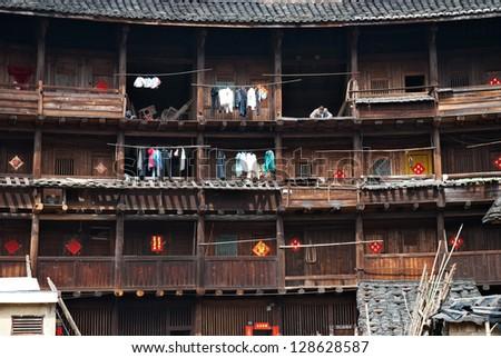 china fujian tulou - stock photo