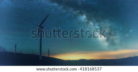 China Galaxy empty steppe road day - stock photo