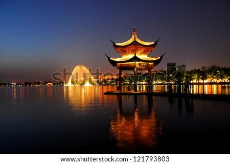 China Garden - stock photo