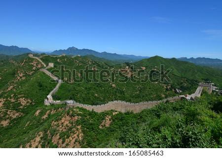 china great wall - stock photo
