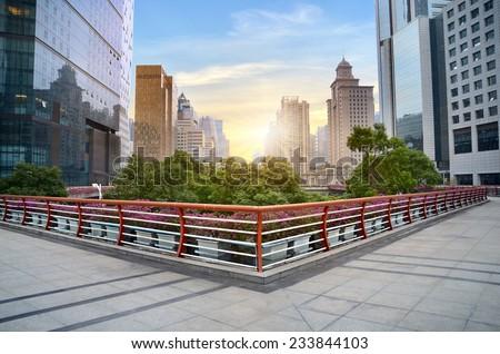 China Guangzhou cityscape  - stock photo