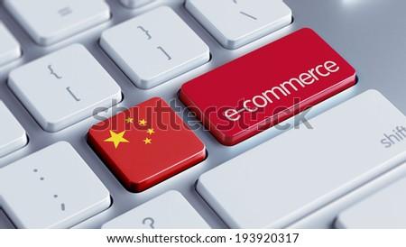 China High Resolution E-Commerce Concept - stock photo