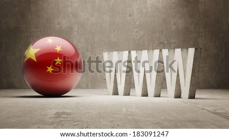 China High Resolution WWW Concept - stock photo