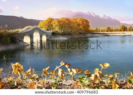 China lijiang scenery   - stock photo