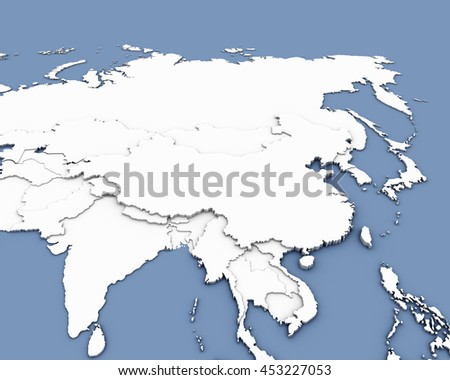 china map 3D rendering - stock photo
