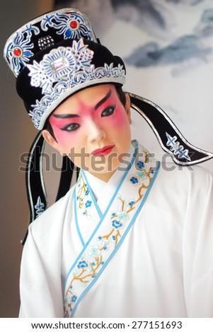 China opera waxworks - stock photo