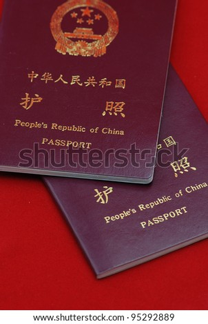 China passport - stock photo