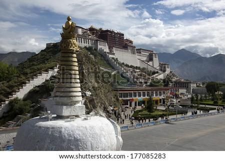 China Potala Palace in Tibet - stock photo
