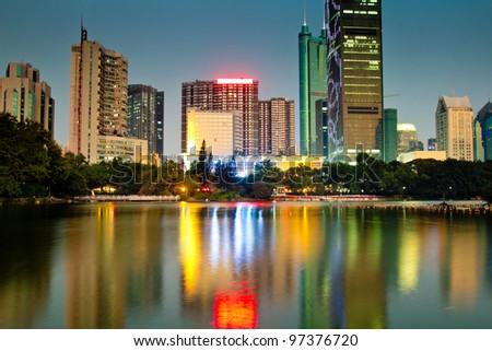 China's Megacity Shenzhen - stock photo