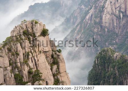 China's Mt. Huangshan, Yellow Mountain - stock photo