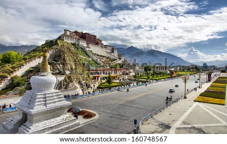 china tibet - stock photo