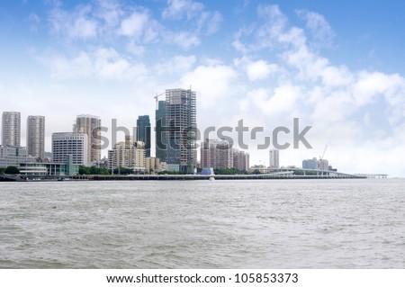 China Xiamen skyline - stock photo