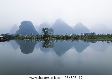 "China Yangshuo ""Yulong River"" - stock photo"
