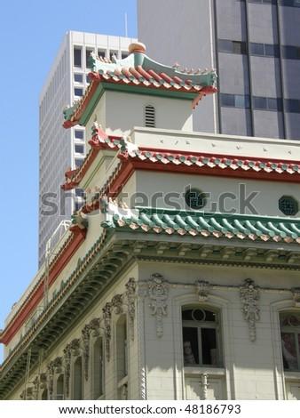 Chinatown in San Francisco, California - stock photo