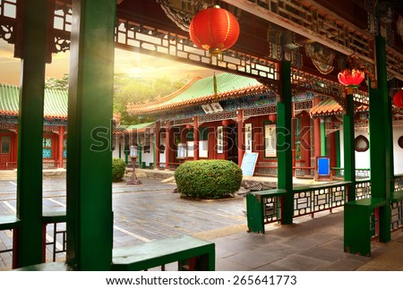 Chinese ancient architecture  - stock photo
