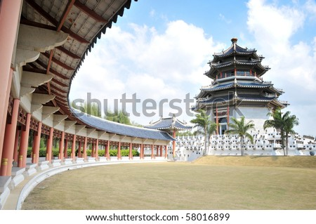 Chinese architecture. - stock photo