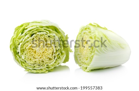 chinese cabbage  Isolated on a white background - stock photo