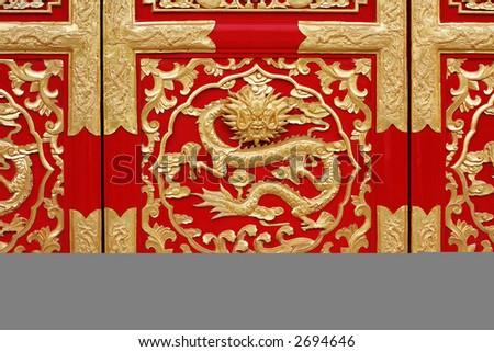 chinese design - stock photo
