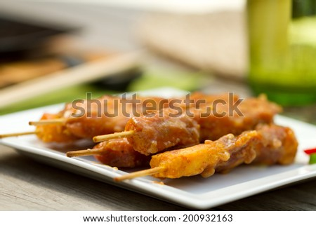 Chinese dining outdoors - stock photo