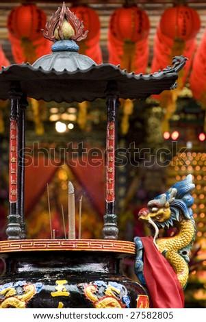 chinese dragon censer - stock photo