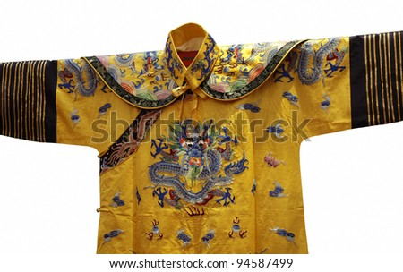 Chinese dress in the Qing Dynasty - stock photo