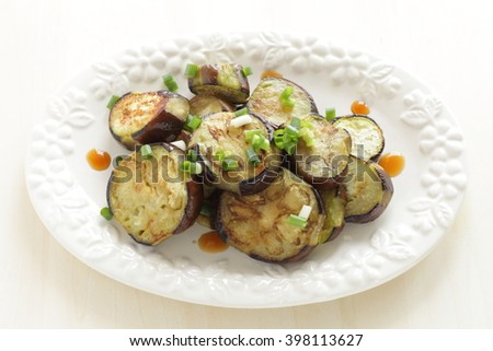 Chinese food, eggplant stir fried - stock photo