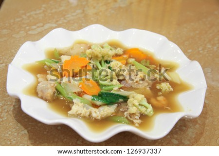 chinese food named cap cay - stock photo
