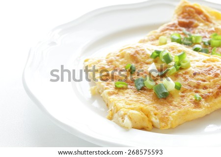 Chinese food, scallop omelet - stock photo