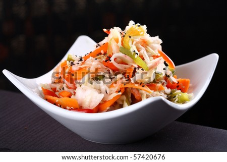 chinese gourmet food - stock photo