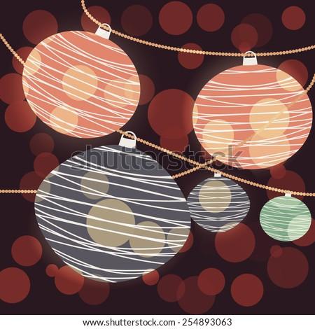 Chinese Lantern Background - stock photo