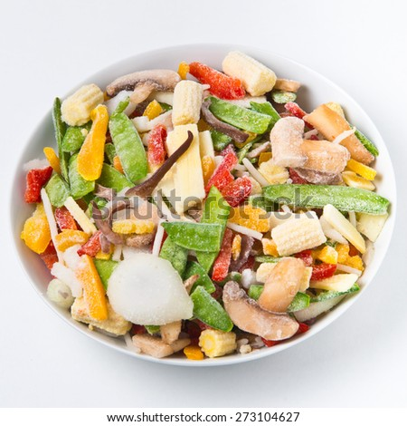 Chinese mix. Frozen vegetables - stock photo