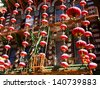 Chinese new Year decorations in San Francisco chinatown - stock photo