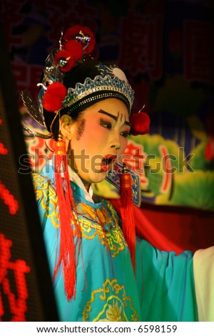 Chinese opera in asia - stock photo