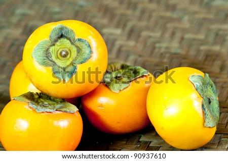 Chinese persimmon - stock photo