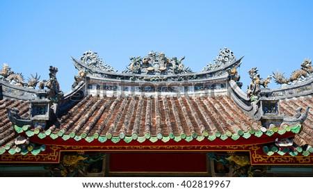 Chinese roof   - stock photo