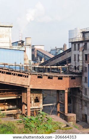 Chinese steelworks - stock photo