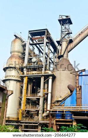 Chinese steelworks equipment - stock photo